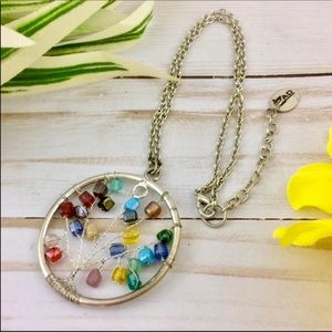 ZAD Multi-Color Beaded Tree of Life Necklace